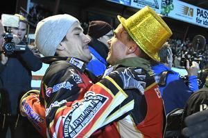 Pontus Aspgren och Michael Jepsen Jensen är två av förarna som har varit med och vunnit SM-guld för Smederna de senaste tre åren.  Foto: Foto Claudio Bresciani/TT