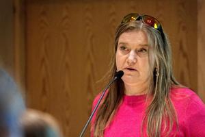 Kulturnämndens  andre vice ordförande, Maria Mörk (V).