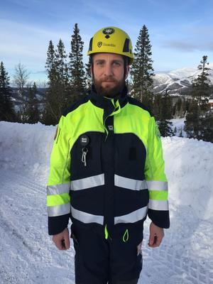 Anders Lögdahl från räddningstjänsten i Åre var räddningsledare på plats.