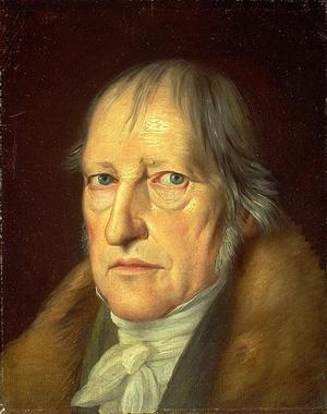Den tyske filosofen Friedrich Hegel. Målning av Jakob Schlesinger från 1831.