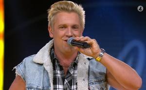 Skärmklipp TV4. Gottfrid Krantz klar för fredagsfinalerna i Idol 2019.