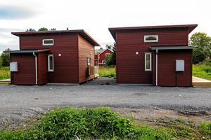 Attefallshus på Liljevägen i Brunflo, mellan Jacobs Ängmans väg och Centrumvägen.