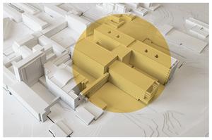 Illustration: Region Västmanland. Markeringen visar vilka byggnader som berörs i projektet.