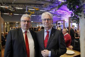 Malung-Sälen kommuns kommunalråd Hans Unander och kollegan  Erik Slätten från Trysil kommun.