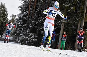 Ebba Andersson i världscupjaktstarten i Toblach för ett par veckor sedan.Bild: Nisse Schmidt/TT