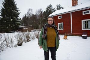 Maria Norgren berättar att det blev ett stillsamt firande på tisdagskvällen. Nu funderar hon på att sätta sig i Gamla stugan med en termos och  bara njuta.