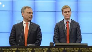 Jan Björklund (L) och Gustav Fridolin (MP) ska debattera skolfrågor i Borlänge. Foto: Jessica Gow / TT /Arkiv