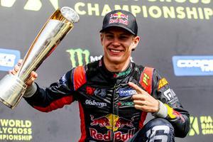 Oliver Eriksson säkrade totalsegern i rallycross-VM:s utvecklingsklass RX2. Foto: RX2