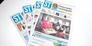 Sidorna i söndagens ST är lite huller om buller. Bilden visar inte den aktuella tidningen. Bild: Emma Kupari