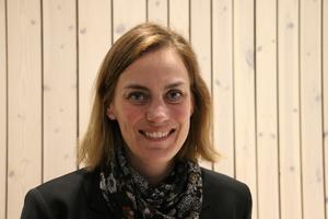 Caroline Dieker (M) var glad över att Moderaterna i Askersund fick fler röster.