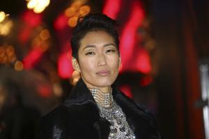 Skådespelaren Jihae under premiären av filmen