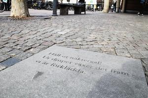 Stenpoesin med haikudikter av Tomas Tranströmer i Västerås är Ida Rosén Branzells initiativ.