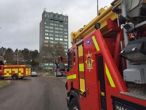 Flera räddningsfordon ryckte ut till platsen.