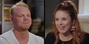 """Louis och Emma var tillsammans och bodde ihop. Emma vill i programmet fråga om Louis vill försöka igen. """"Jag trodde aldrig vi skulle komma med. Det känns stort att vara med i premiäravsnittet""""."""