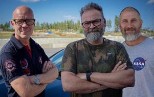 Tony Rickardsson, Adam Alsing och Marko Lehtosari leder Top Gear som sänds nästa år. Foto: Kanal 5