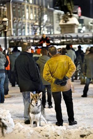 Bo Lindahl med sin american wolfdog