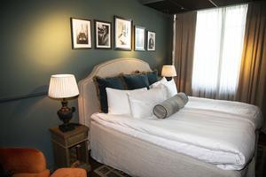 Ett av 40 rum på Turbine hotell.