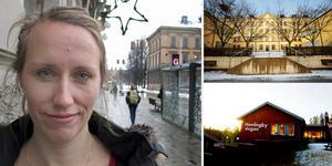 – Grunden är att kommunen måste spara pengar, säger Marie Grew om de föreslagna förändringarna där Hemlingbybussen försvinner och buss 15 slutar att köra förbi högskolan på kvällar och helger.
