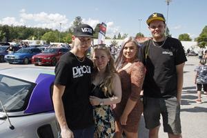 Philip Svensson, Ida Hedberg, Evelina Norman och Kim Lundström hade tagit bilen från Säter (inte Kim Lundström som bor i Sandviken) för att träffa likasinnade.