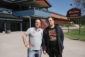 Patrik Forsmark, initiativtagare och grundare, bredvid Roger Jonsson, tränare i Kais Mora, där de förra året planerade Lyckoruset.