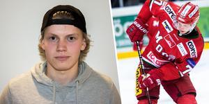 Tobias Åhström stannar i Modo Hockey. Forwarden har skrivit ett kontrakt som sträcker sig över kommande två säsonger. Bild: Jon Häggqvist/Robbin Norgren/arkiv