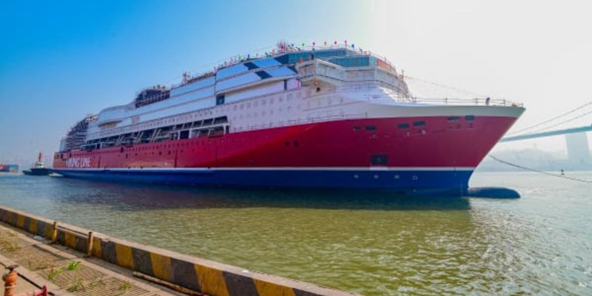 Viking Lines nya jätteskepp ska segla under finsk flagg