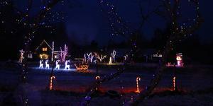Familjen Elestedts hus ligger inbäddad i julstämning.