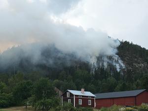 Skogsbranden i Ljustorp.