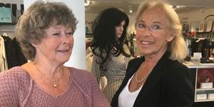 Charlotte Gunnarsson från Edsbro och Christina Collot d'Escury träffade varandra igen efter 63 år. Foto: Elisabet Ek