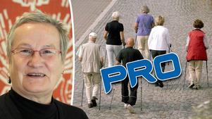 Maria Antonić, ordförande i PRO City i Sundsvall, menar att pensionärerna är en stark väljargrupp som borde värderas högre. Bilder: Håkan Humla / Hasse Holmberg/TT