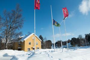 Fjällsjöflaggan har hissats på halvstång för att hedra de avlidna.