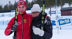 William Grip och Sofia Jonsson tog ett varsitt silver under lördagens masstart. Sofia följde sedan upp detta med ytterligare ett silver i sprintloppet. Foto:Privat