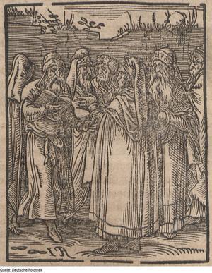 Judiska kabbalister porträtterade av Tommaso Garzoni 1641. Under 1600-talet växte den kristna världens filosofers och vetenskapsmäns intresse för den judiska mystiska traditionen kabbalism.