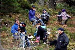 Tack vare DM för tre stora distirkt är Noratrofén länets största rallytävling i höst, och det fanns en hel del publik på plats i skogen under lördagen.