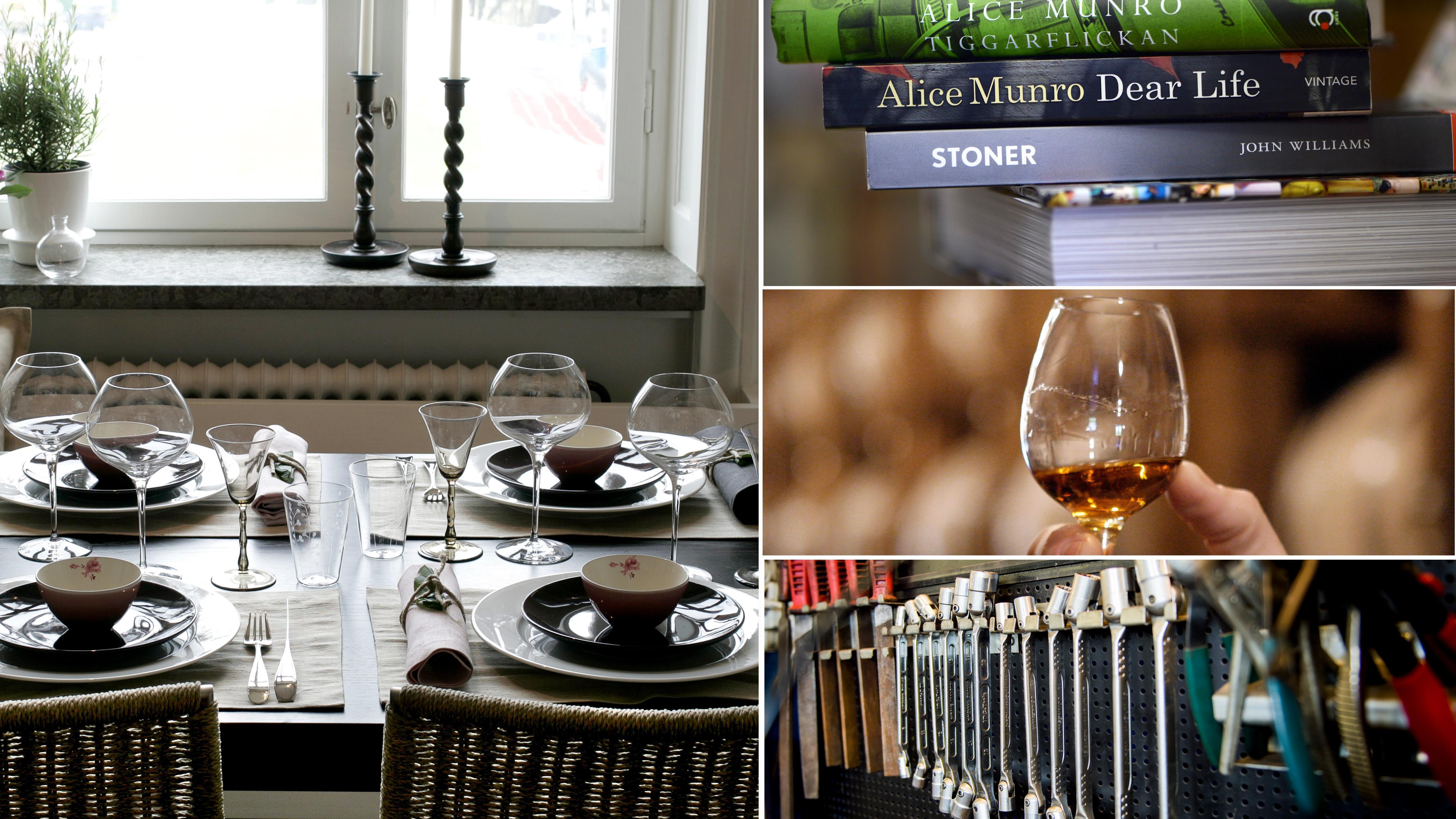 En middagsbjudning, böcker, vin och verktyg står högst på svenska pappors önskelistor inför fars dag. Bild: TT