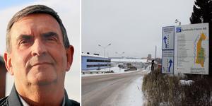 Björn Olsson, vd, MLP, ser fram emot att Flogas kompletterar bilden vid omlastningen på bangården i Ånge. Bilder: Micke Engström och Roland Engström