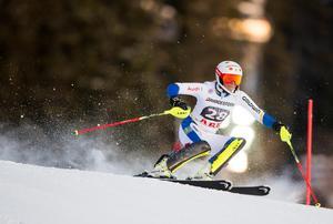Sveriges Nathalie Eklund under damernas slalom vid världscuptävlingarna i Åre i december 2015.