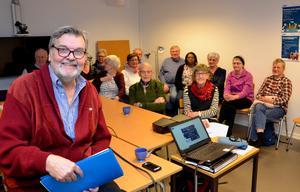 Håkan Lindgren medverkade vid FN-föreningen i Örnsköldsviks första möte för året. Foto: Sven Lindblom