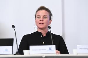 Johanna Sandwall, krisberedskapschef på Socialstyrelsen, är en av de som medverkar på pressträffen.