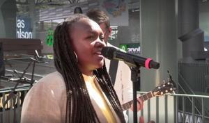 Faith Kakembo var en av artisterna på söndagen.