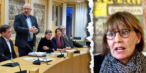 Nya politiska ledningen ratade landstingsdirektör Karin Stikå Mjöberg från högsta chefsposten.Montage. Foto: Mats Laggar, Claes Söderberg
