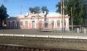 En tågstation i Ryssland. Foto: Lotta Liljelund.