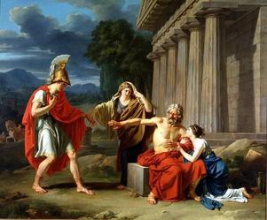 Scen ur Sofokles tragedi