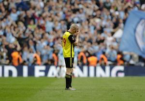 Watford, utan Ken Sema, förlorade med 0–6 mot Manchester City i FA-cupfinalen. Foto: Kirsty Wigglesworth / TT.