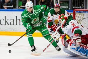 Linus Sandin i en hemmamatch mot Mora. Foto: Petter Arvidsson/Bildbyrån