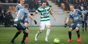 Filip Tronêt under 1-1-matchen mot Brage på Solid park arena.