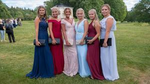Flera av Brinellskolans sistaårselever klädde upp sig till tänderna på tisdagskvällen när det var dags för balen.
