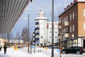 Tornet på Hemköpshuset har fem våningar.