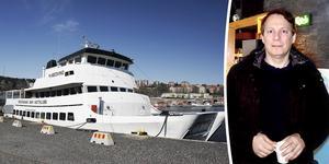 Medvind ligger vid kaj i Sundsvalls inre hamn. Ägaren Ola Hermansson vill frigöra kapital genom att sälja kryssningsbåten.
