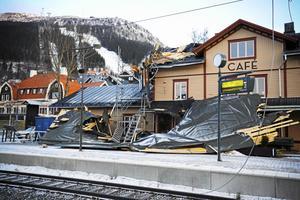 I december för fem år sedan orsakade stormen Ivar stora skador. Holiday Clubs tak lyfte och landade på Bahnhof Café.